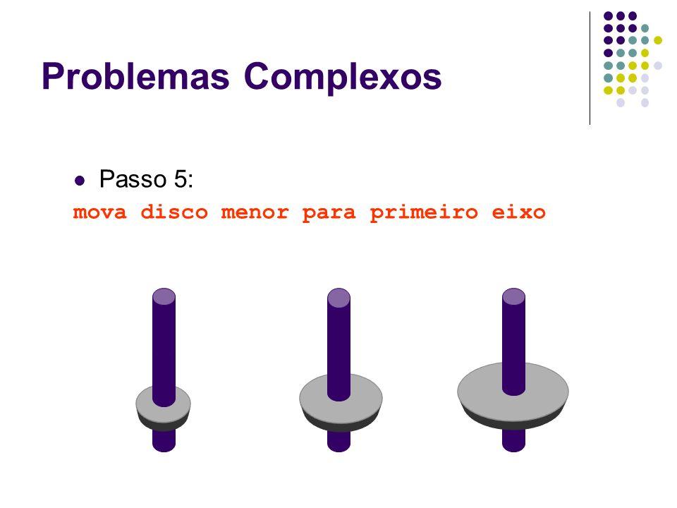 Passo 5: mova disco menor para primeiro eixo Problemas Complexos