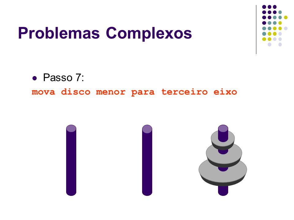 Passo 7: mova disco menor para terceiro eixo Problemas Complexos