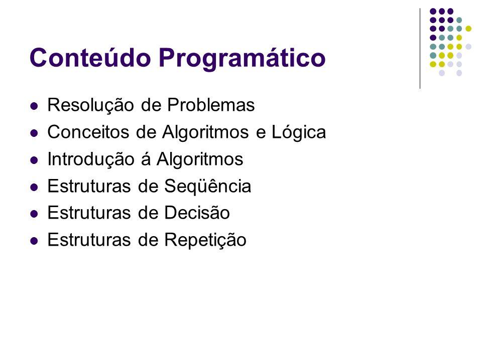 Conceito de Algoritmo O que é um algoritmo.
