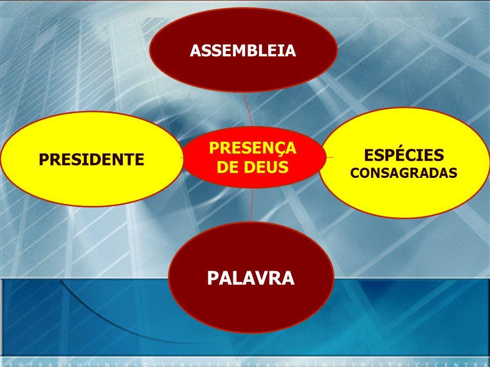 ASSEMBLEIA ESPÉCIES CONSAGRADAS PALAVRA PRESENÇA DE DEUS PRESIDENTE