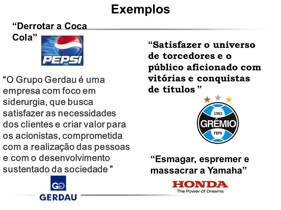 Derrotar a Coca Cola Esmagar, espremer e massacrar a Yamaha O Grupo Gerdau é uma empresa com foco em siderurgia, que busca satisfazer as necessidades