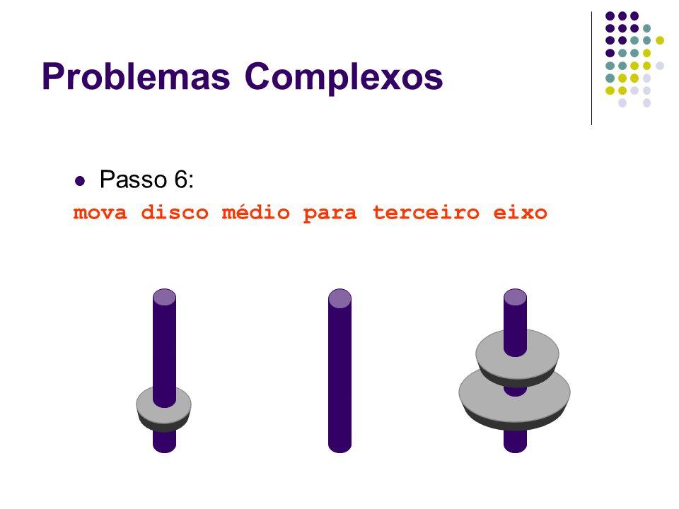 Passo 6: mova disco médio para terceiro eixo Problemas Complexos