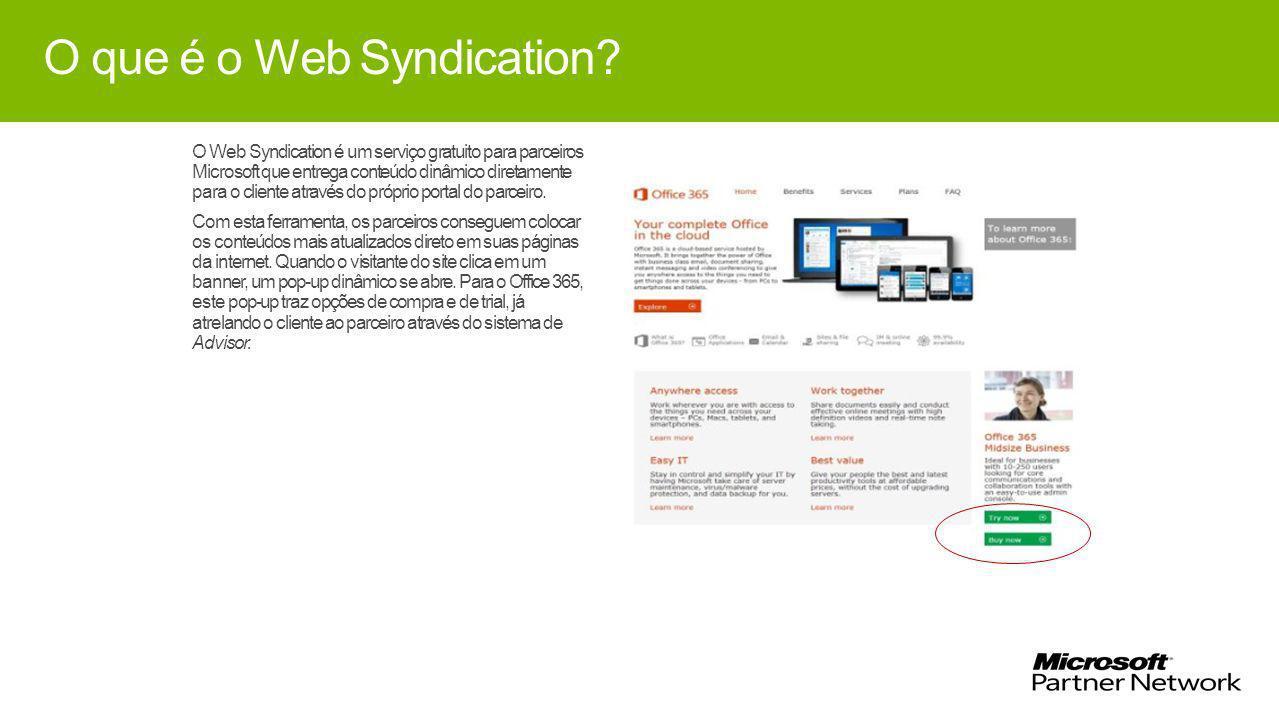 O que é o Web Syndication.