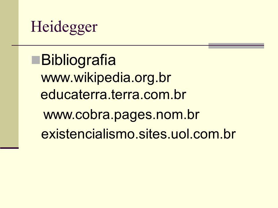Bibliografia www.wikipedia.org.br educaterra.terra.com.br www.cobra.pages.nom.br existencialismo.sites.uol.com.br