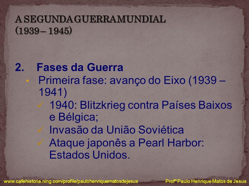 www.cafehistoria.ning.com/profile/paulohenriquematosdejesus Profº Paulo Henrique Matos de Jesus ATAQUE JAPONÊS A PEARL HARBOR INVASÃO DA UNIÃO SOVIÉTICA