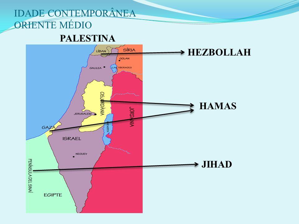IDADE CONTEMPORÂNEA ORIENTE MÉDIO 12 - A INTIFADA (1987): Movimento espontâneo dos palestinos que refletia sua falta de perspectiva quanto a resolução