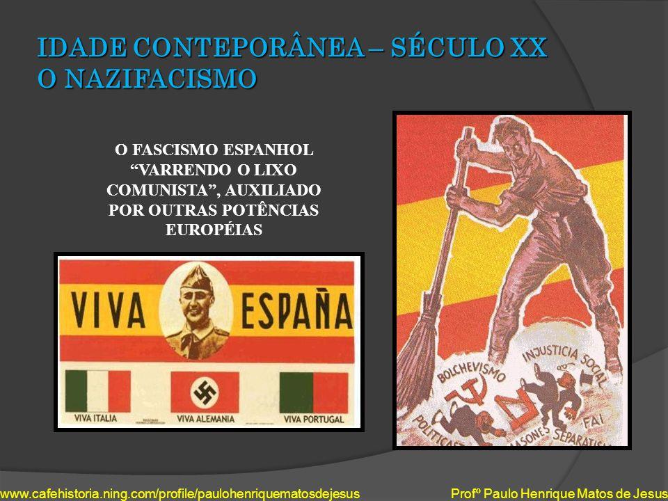 IDADE CONTEPORÂNEA – SÉCULO XX O NAZIFACISMO www.cafehistoria.ning.com/profile/paulohenriquematosdejesus Profº Paulo Henrique Matos de Jesus O FASCISM