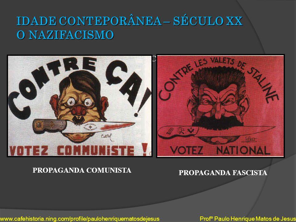 IDADE CONTEPORÂNEA – SÉCULO XX O NAZIFACISMO IDEOLOGIAS EM CHOQUE: www.cafehistoria.ning.com/profile/paulohenriquematosdejesus Profº Paulo Henrique Ma
