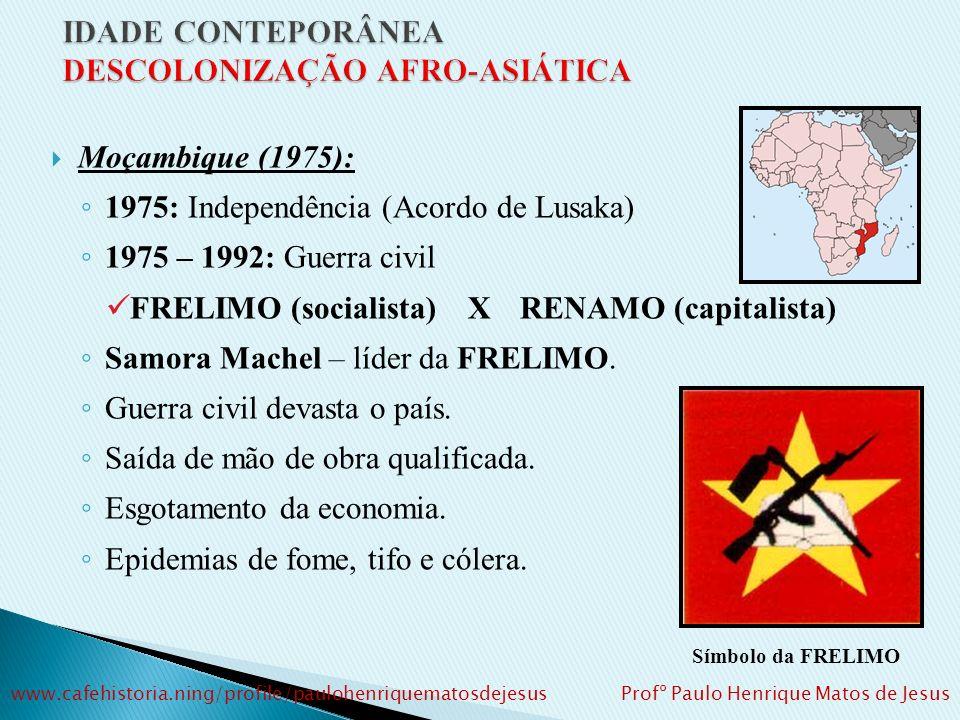 Agostinho Neto (MPLA) exerce a presidência do país entre 1975 e 1979.