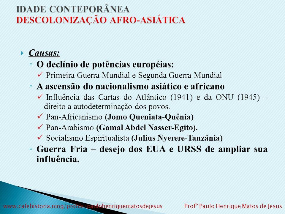 1900: cerca de 56,6% da Ásia e 90,4% da África estavam sob controle do colonialismo europeu www.cafehistoria.ning/profile/paulohenriquematosdejesus Profº Paulo Henrique Matos de Jesus