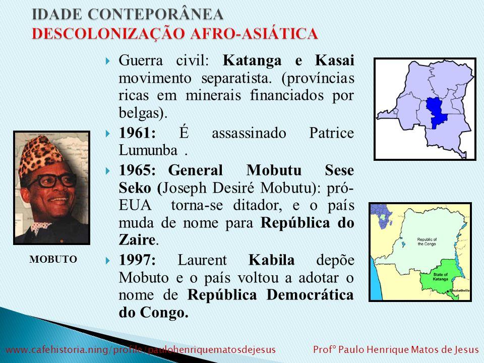 Guerra civil: Katanga e Kasai movimento separatista.