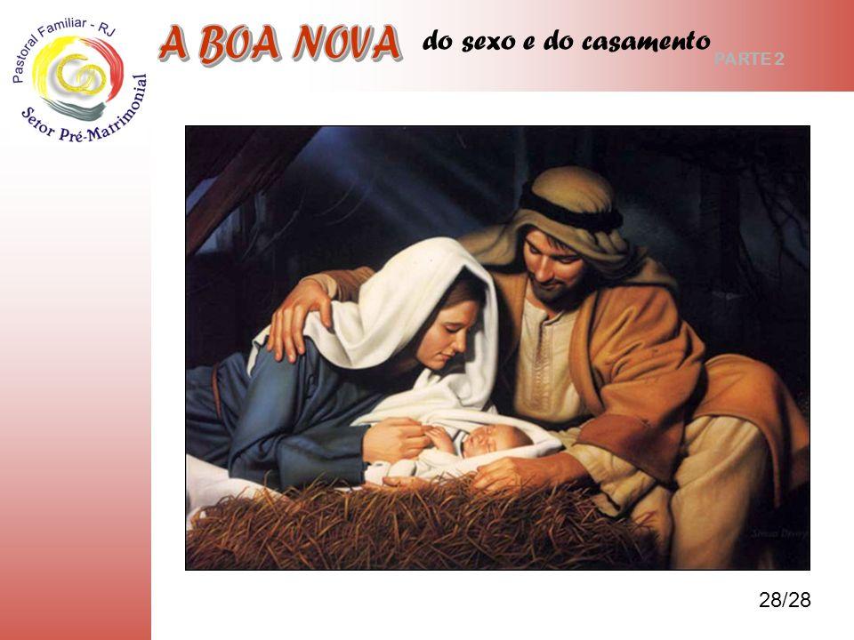 do sexo e do casamento E o casamento de José e Maria? Pág. 26, 8 28/28 PARTE 2 SEXO E CELIBTATO