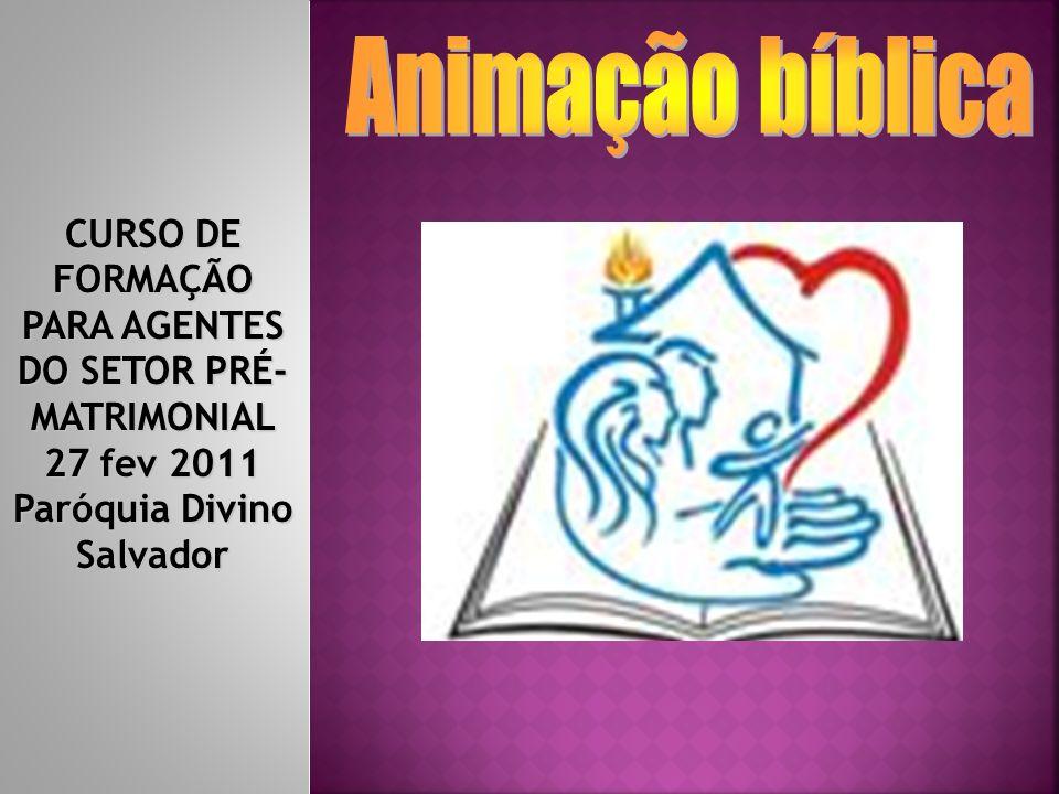 CURSO DE FORMAÇÃO PARA AGENTES DO SETOR PRÉ- MATRIMONIAL 27 fev 2011 Paróquia Divino Salvador