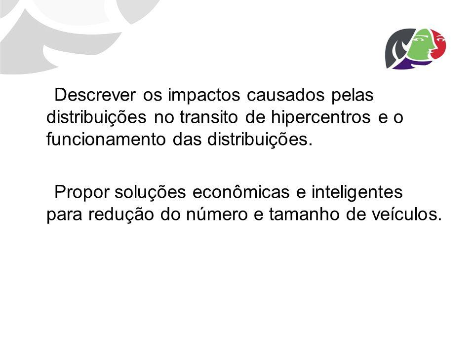 Descrever os impactos causados pelas distribuições no transito de hipercentros e o funcionamento das distribuições. Propor soluções econômicas e intel