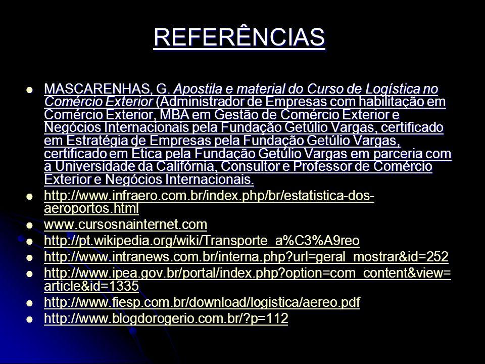 REFERÊNCIAS MASCARENHAS, G.