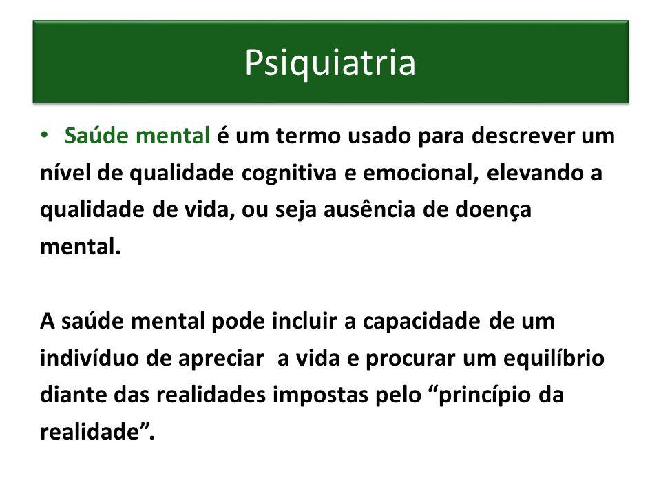 Saúde mental é um termo usado para descrever um nível de qualidade cognitiva e emocional, elevando a qualidade de vida, ou seja ausência de doença men
