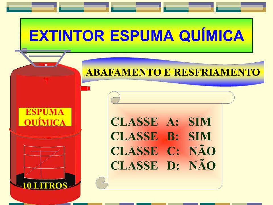 EXTINTOR PQS ALTA PRESSÃO DURAÇÃO DE 50 SEGUNDO; PÓ BICARBONATO; POSSUI MANOMENTRO; VERDE PRESSÃO NORMAL; VERMELHO PRESSÃO INSUFICIENTE; NÃO SE UTILIZ
