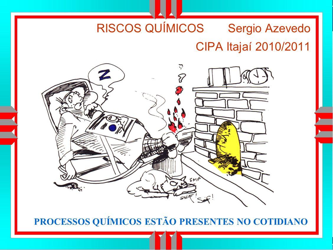 Título da Apresentação RISCOS QUÍMICOS Sergio Azevedo CIPA Itajaí 2010/2011 PROCESSOS QUÍMICOS ESTÃO PRESENTES NO COTIDIANO