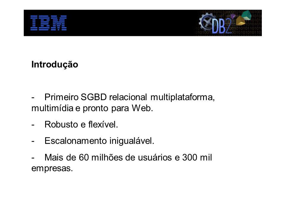 Introdução - Primeiro SGBD relacional multiplataforma, multimídia e pronto para Web. - Robusto e flexível. - Escalonamento inigualável. - Mais de 60 m