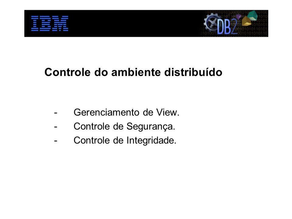 Controle do ambiente distribuído -Gerenciamento de View. -Controle de Segurança. -Controle de Integridade.