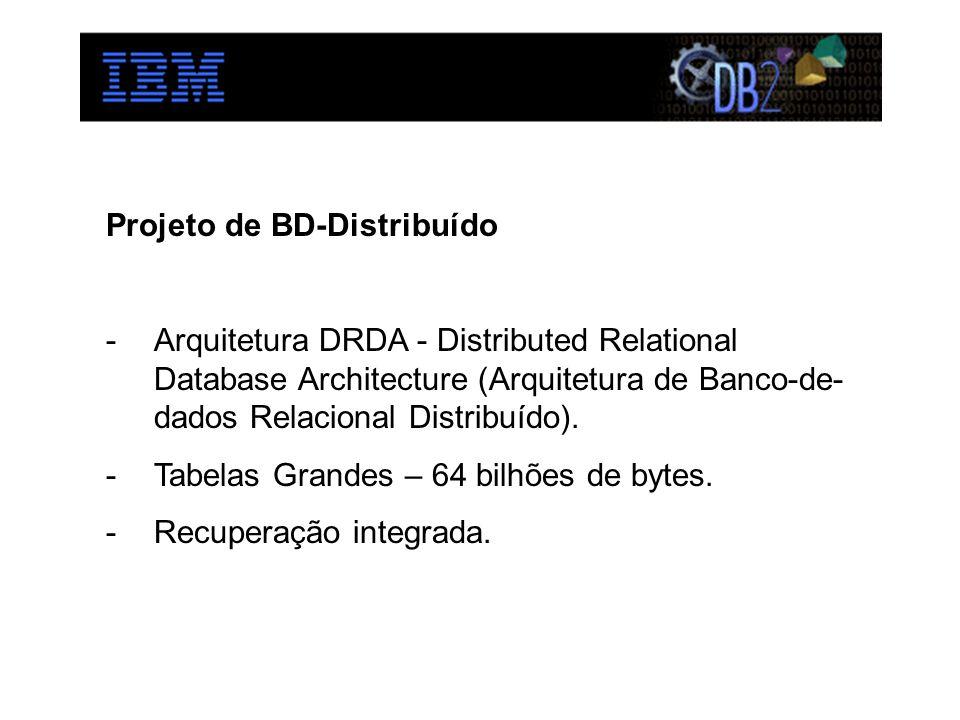 Projeto de BD-Distribuído -Arquitetura DRDA - Distributed Relational Database Architecture (Arquitetura de Banco-de- dados Relacional Distribuído).