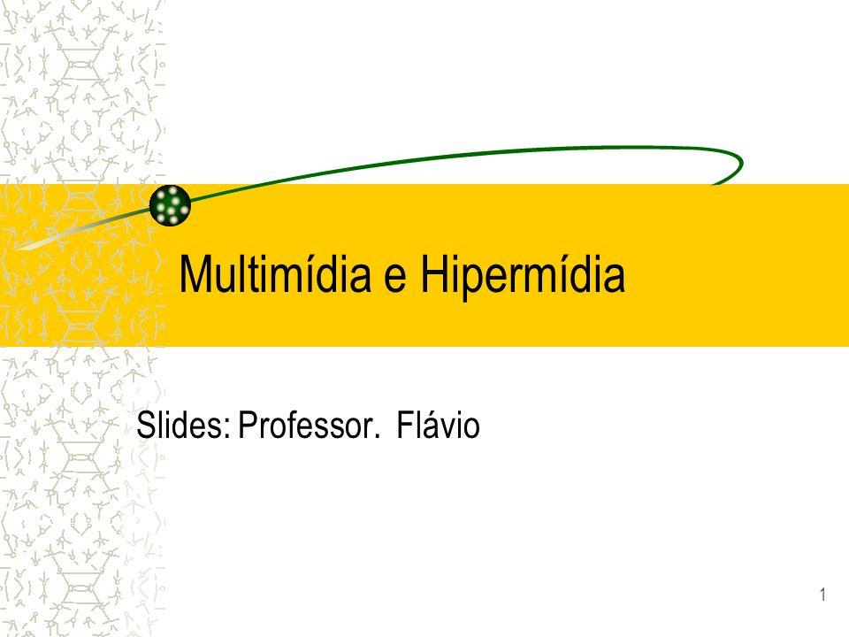 Multimídia e Hipermídia Slides: Professor. Flávio 1