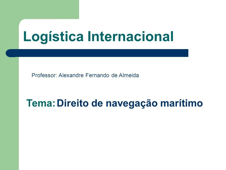 Logística Internacional Professor: Alexandre Fernando de Almeida Tema: Direito de navegação marítimo