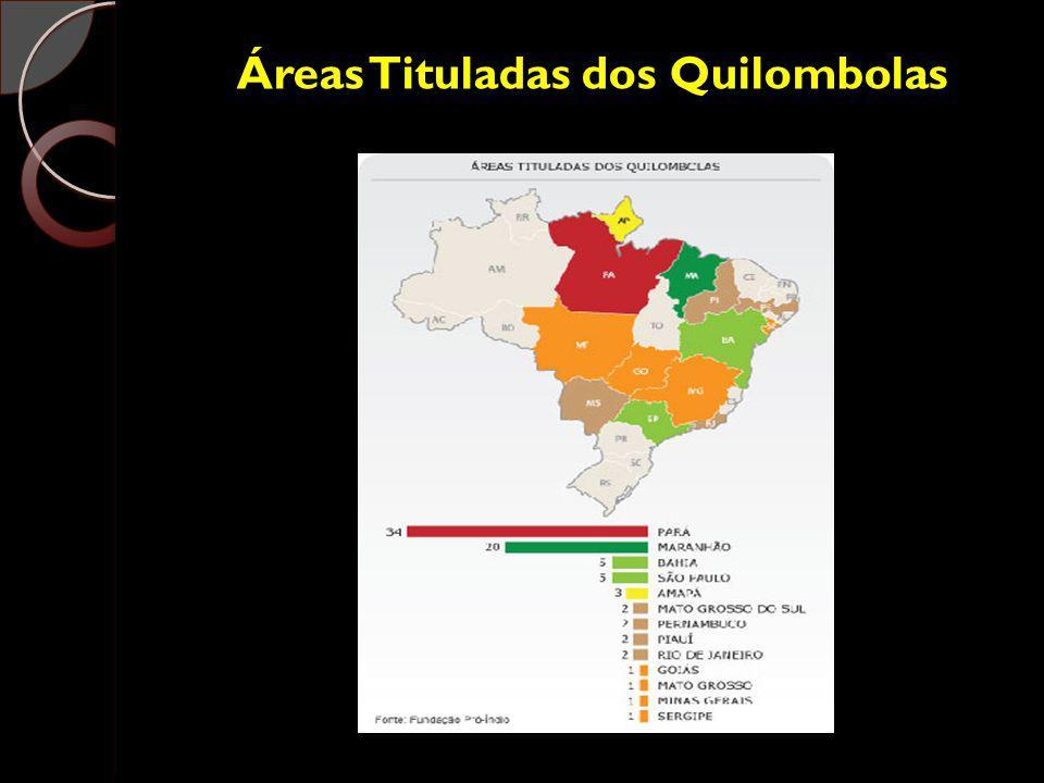 Áreas Tituladas dos Quilombolas