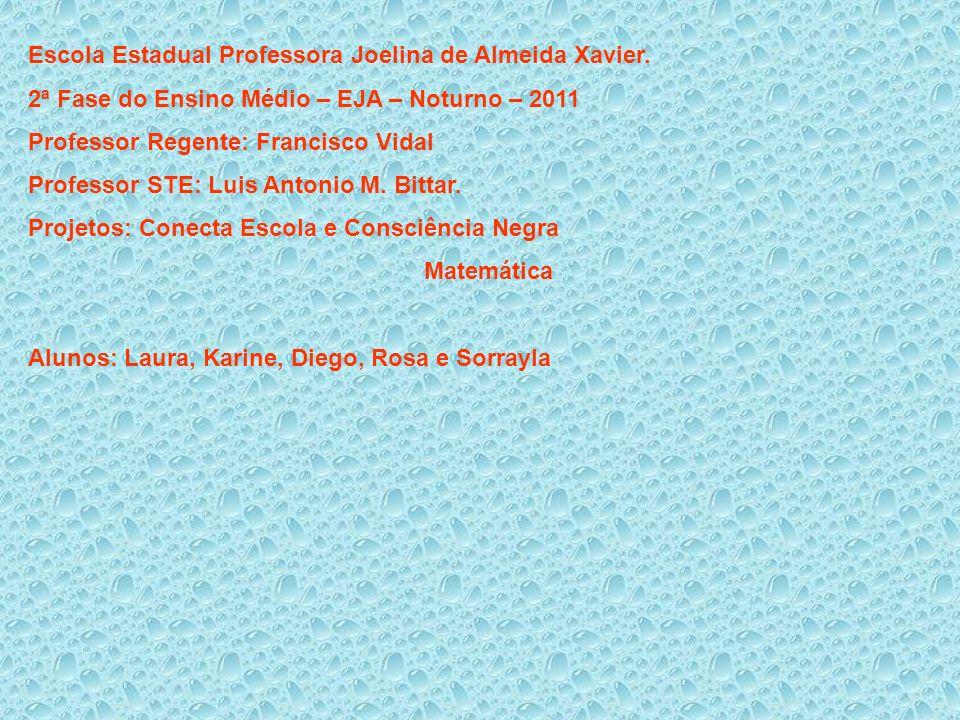 Escola Estadual Professora Joelina de Almeida Xavier. 2ª Fase do Ensino Médio – EJA – Noturno – 2011 Professor Regente: Francisco Vidal Professor STE:
