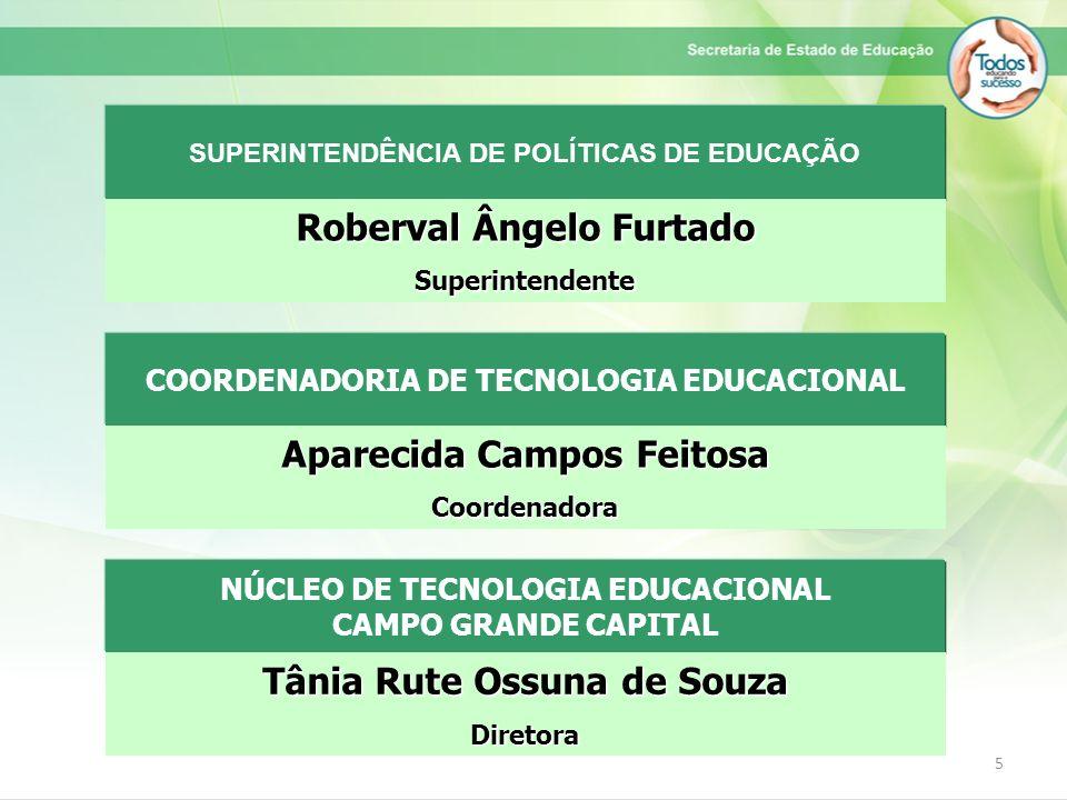 5 COORDENADORIA DE TECNOLOGIA EDUCACIONAL Aparecida Campos Feitosa Coordenadora SUPERINTENDÊNCIA DE POLÍTICAS DE EDUCAÇÃO Roberval Ângelo Furtado Supe