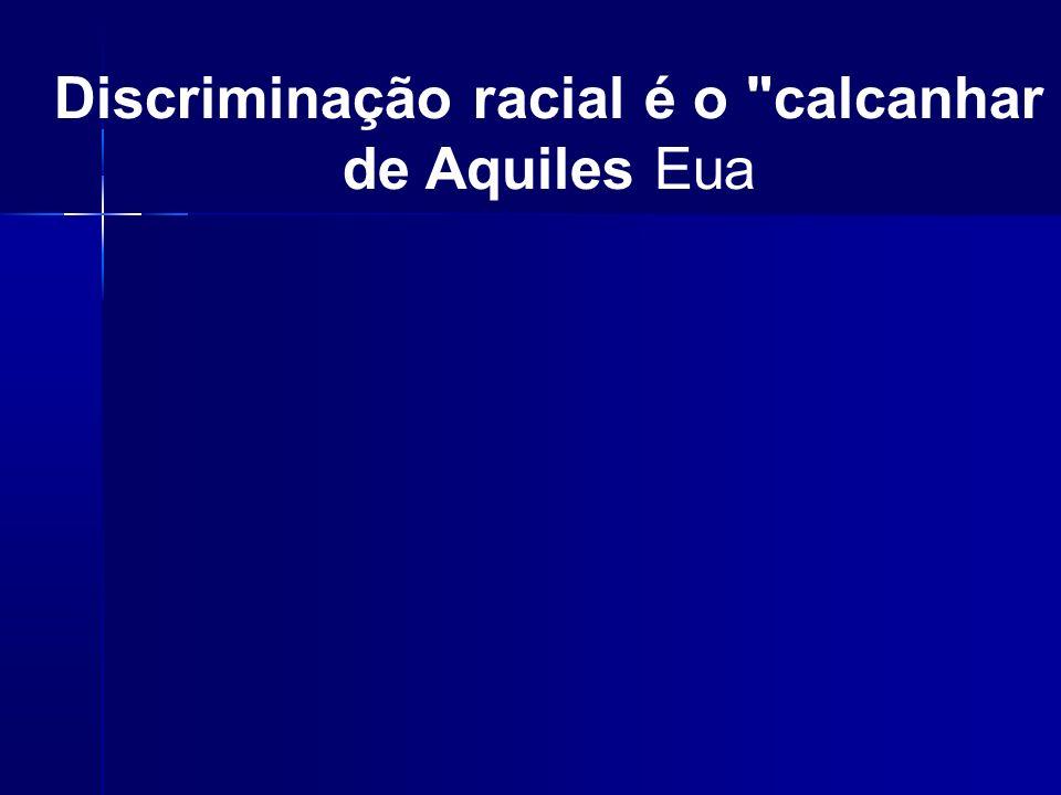 Discriminação racial é o