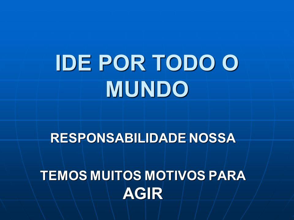 IDE POR TODO O MUNDO RESPONSABILIDADE NOSSA TEMOS MUITOS MOTIVOS PARA AGIR