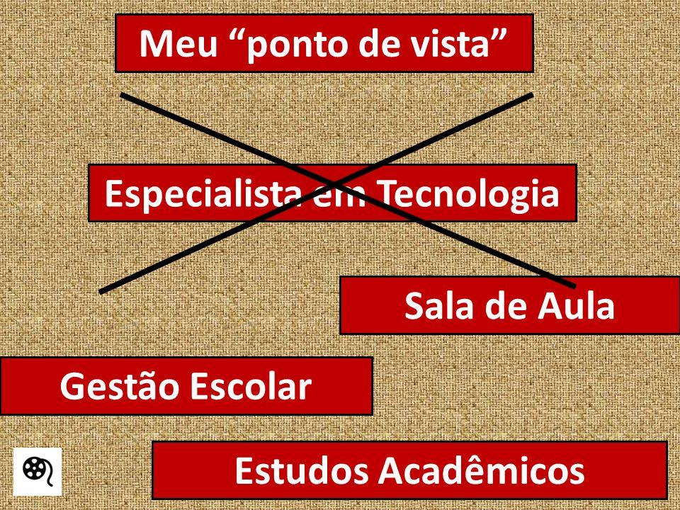 Sala de Aula Gestão Escolar Estudos Acadêmicos Especialista em Tecnologia Meu ponto de vista