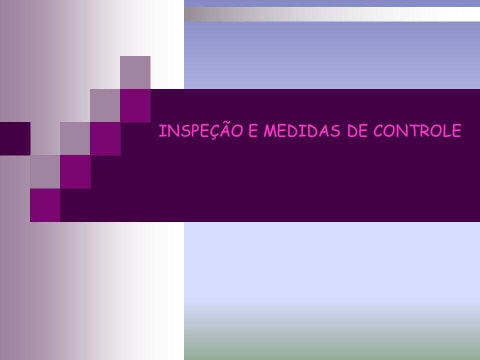 INSPEÇÃO E MEDIDAS DE CONTROLE