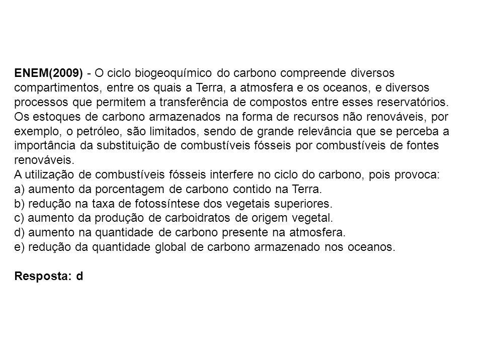 CICLO DO NITROGÊNIO N 2 atmosférico nitrito NO 2 - nitrato NO 3 - plantasanimais desnitrificação amônia NH 3 Fixação biológica Fixação física amonificação