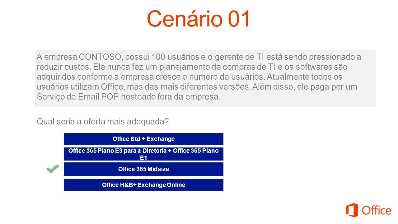 A empresa CONTOSO, possui 100 usuários e o gerente de TI está sendo pressionado a reduzir custos. Ele nunca fez um planejamento de compras de TI e os