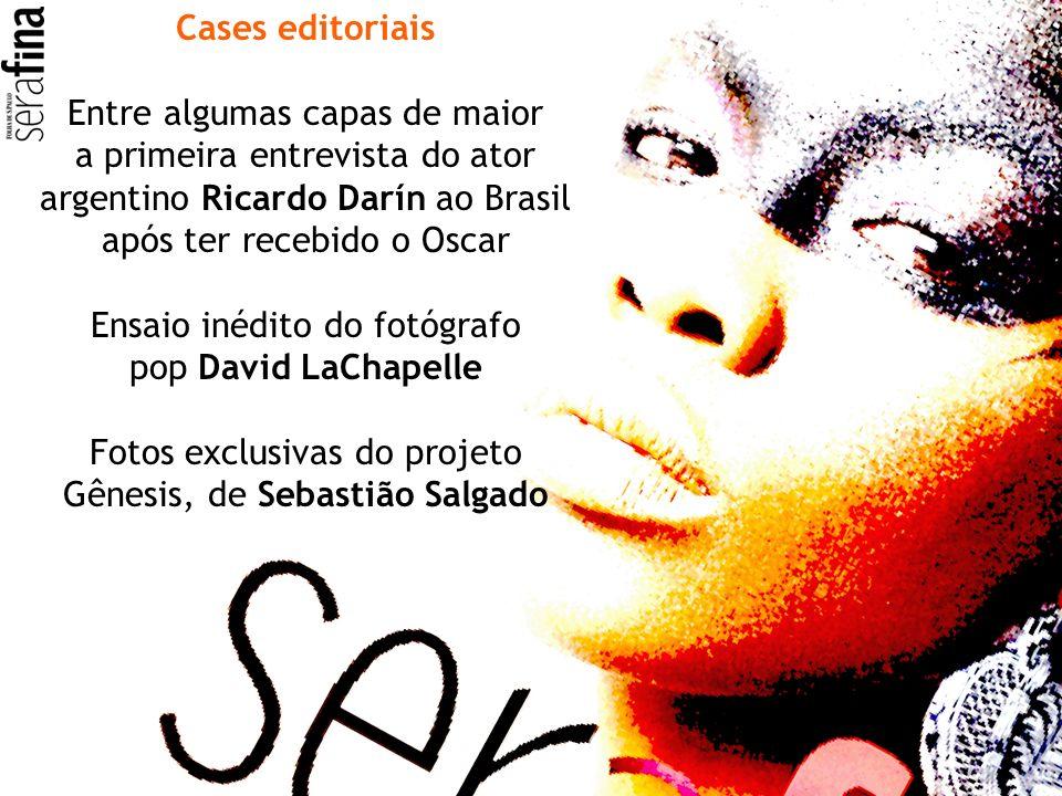 Cases editoriais Entre algumas capas de maior a primeira entrevista do ator argentino Ricardo Darín ao Brasil após ter recebido o Oscar Ensaio inédito
