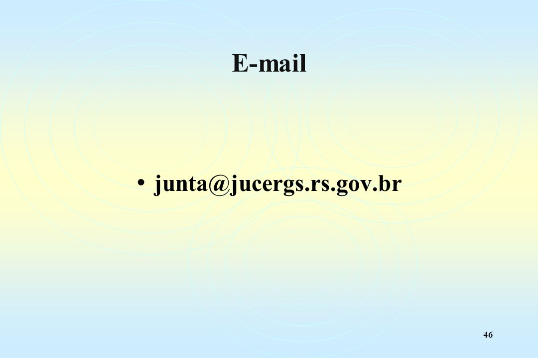 46 E-mail junta@jucergs.rs.gov.br