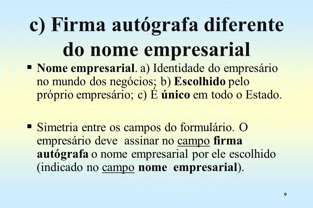 9 Nome empresarial.