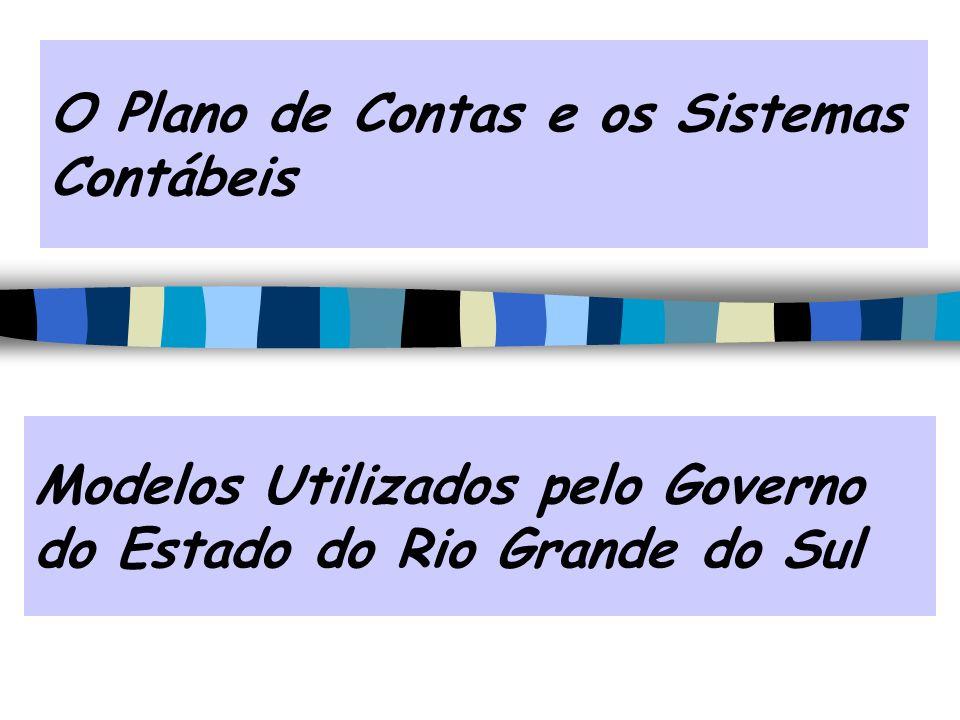 Modelos Utilizados pelo Governo do Estado do Rio Grande do Sul O Plano de Contas e os Sistemas Contábeis