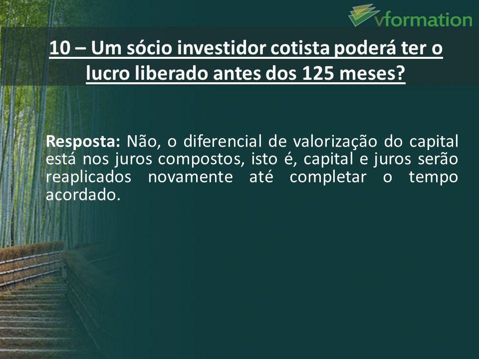Resposta: Não, o diferencial de valorização do capital está nos juros compostos, isto é, capital e juros serão reaplicados novamente até completar o t
