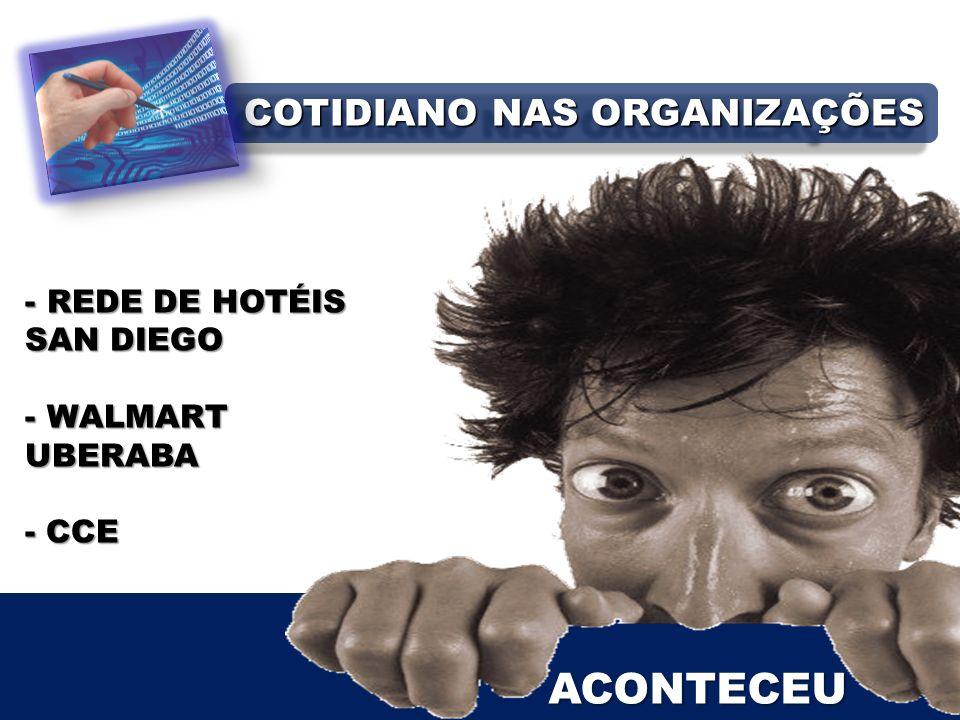 ACONTECEU - REDE DE HOTÉIS SAN DIEGO - WALMART UBERABA - CCE COTIDIANO NAS ORGANIZAÇÕES