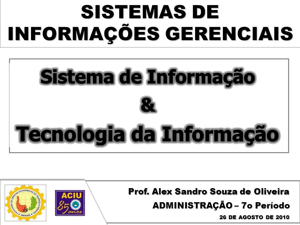 SISTEMAS DE INFORMAÇÕES GERENCIAIS Prof.