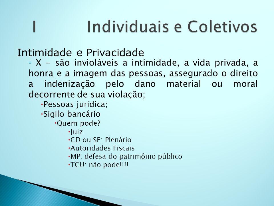 Intimidade e Privacidade X - são invioláveis a intimidade, a vida privada, a honra e a imagem das pessoas, assegurado o direito a indenização pelo dan