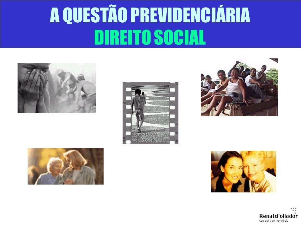 A QUESTÃO PREVIDENCIÁRIA DIREITO SOCIAL...... RenatoFollador Consultoria emPrevidência