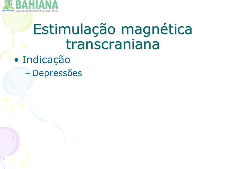 Estimulação magnética transcraniana Indicação –Depressões