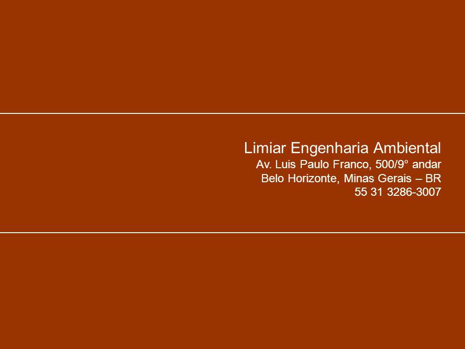 Limiar Engenharia Ambiental Av. Luis Paulo Franco, 500/9° andar Belo Horizonte, Minas Gerais – BR 55 31 3286-3007
