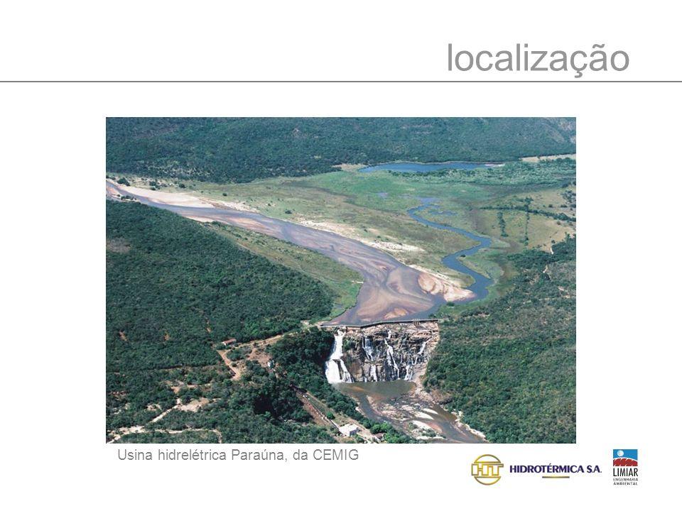 características gerais PCH QUARTEL I Potência: 30 MW < Área do Reservatório: 33 ha < Extensão do reservatório: 3.280 m < Extensão do trecho de vazão reduzida: 4.200 m < Municípios: Gouveia e Conceição do Mato Dentro < Propriedades afetadas: Fazenda da Prata <