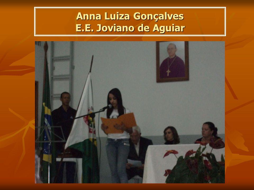 Anna Luiza Gonçalves E.E. Joviano de Aguiar