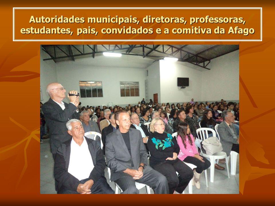 Presidente da Afago homenageia a E.E.